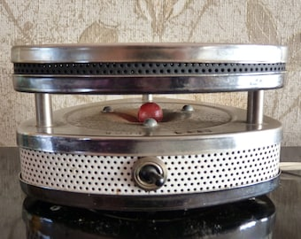 Vintage Triangular Electric Hot Plate Food Warmer
