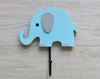 Wall hooks, Coat hooks,  Kids room decor, Kids wall hooks, Wall decorations - Elephant nursery decor