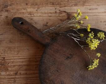 D 319: antique handmade handcarved wooden austrian cutting BOARD CHEESE board