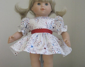 Doll Clothes-Made for Bitty Baby Dolls,  Patriotic Dress Fits Bitty Baby and Bitty Twins Dolls