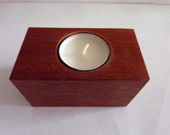 Wooden  Handmade  Tea Light Candle Holder,Redwood,Ideal Gift for all occasions.
