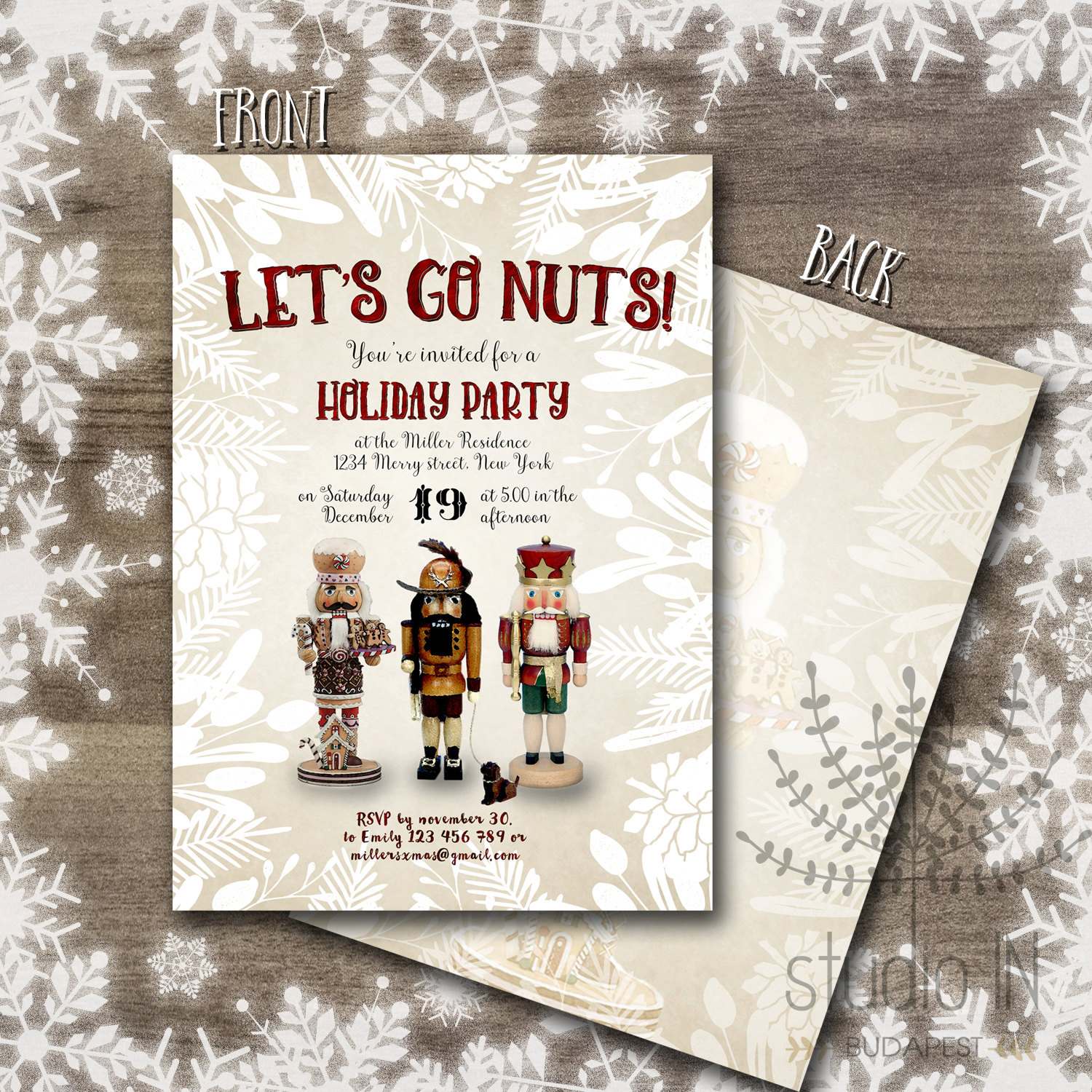 Printable christmas invitations christmas party invitations zoom solutioingenieria Gallery