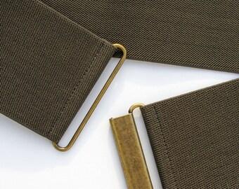khaki green elastic waist belt for women, regular and plus size