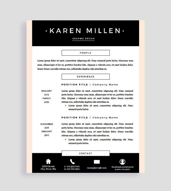 Resume Format Page 2: Resume Template Pages Two Page Resume Template Creative