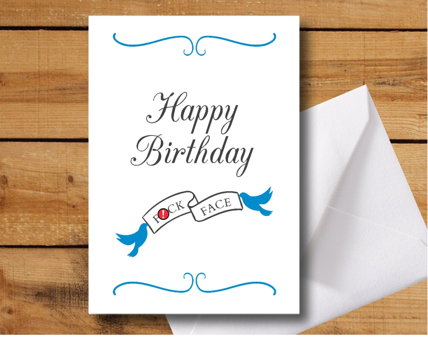 Happy Birthday Fck Face Greeting Card Offensive Birthday