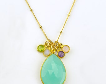 Grandmother necklace, mothers jewelry, new grandma gift, nana gift, mothers necklace birthstone mothers necklace gold birthday gifts for her