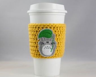 My Neighbor Totoro - cup cozy - crochet cup cozy - reusable cup cozy - ecofriendly