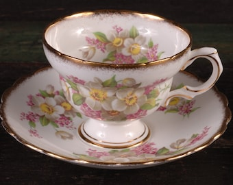 Rosina Bone China Cup and Saucer, England