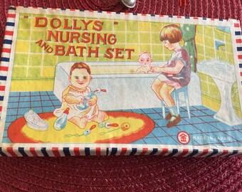 Vintage Dollys Nursing and Bath Set Made in Japan