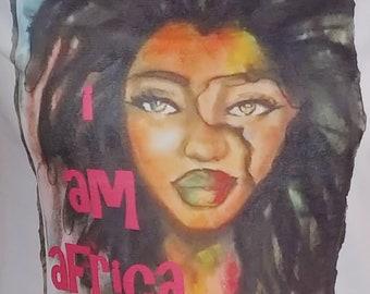 Afrocentric Tee Shirt I Am Africa