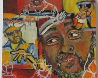 Portrait Painting Print - Ciph Boogie - Musician