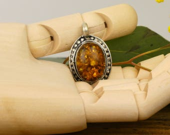 Natural amber - Nepalese pendant natural amber locket