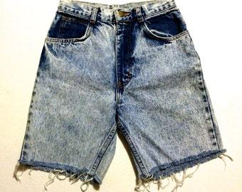 7 Hunt Club Cut Offs Acid Wash 90's Frayed Denim Jean Shorts Jorts Made in the USA