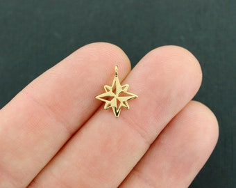 Compass Star Pendant Charm Gold Filled - GC1041 NEW2