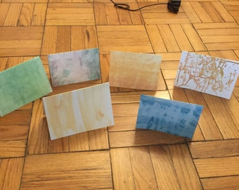 Custom Abstract Watercolor Cards