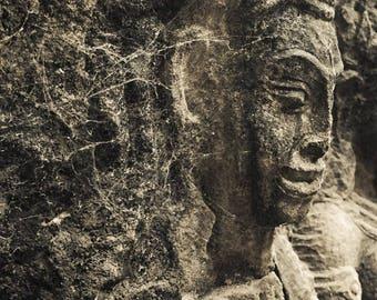 Angkor Wat, Angkor Thom, travel photography, meditation, Buddhism faith , Hinduism, Cambodia photo, yoga studio decor, sculpture, ruins
