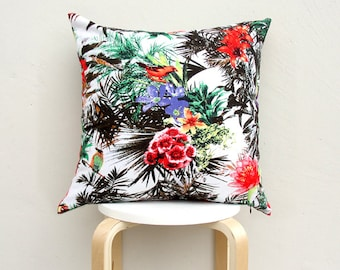 Tropical pattern pillow cover, Tropical cushion Case 03