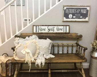 Home sign - Home sweet home wood sign- framed sign- fixer upper style