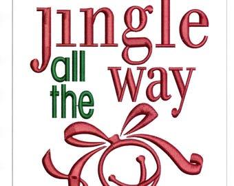 Embroidery Designs Jingle All the Way Christmas