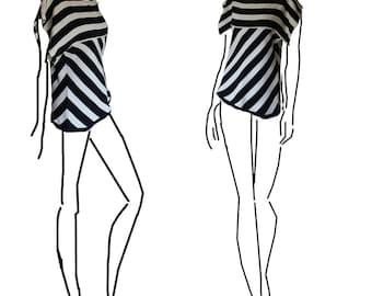 Black and white summer tshirt rigoni