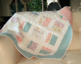 SALE vintage baby girl quilt
