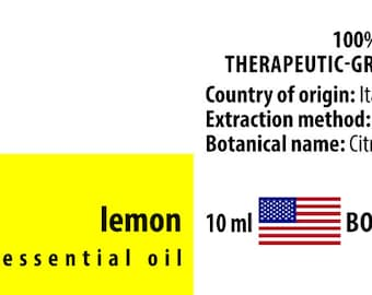 Lemon 100% Pure Essential Oil from Italy 10ml