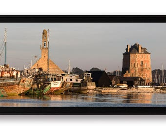 """Panoramique """"Camaret-sur-Mer"""", tirage d'art contrecollé sur Alu-Dibond et monté en caisse américaine"""