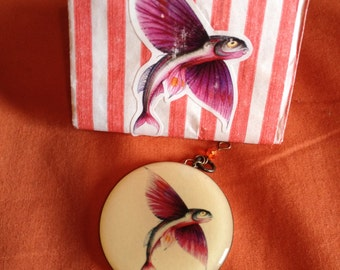 Pendants Exocoetidae (sailfish)