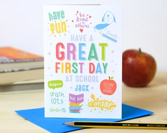 Handmade card etsy first day at school card first day at kindergarten first day at school first day at nursery m4hsunfo