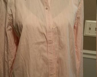 LAUREN Ralph Lauren Pink Striped Dress Shirt with Pearlized Buttons Size L