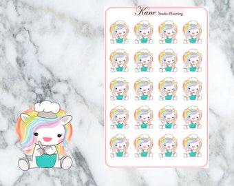 Cooking Unicorn Planner Stickers