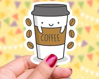 Coffee Sticker Coffee Vinyl Sticker Coffee Bumper Sticker Coffee Lover Gift Coffee Gift Laptop Sticker for Coffee Lover Cute Stationary Gift