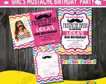 Little Man Birthday Party invitationMustache Birthday