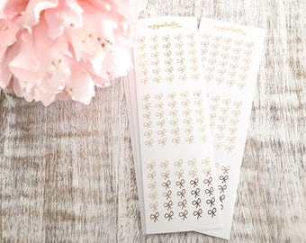 Six Bow Checklists Foiled   Planner stickers   Erin Condren