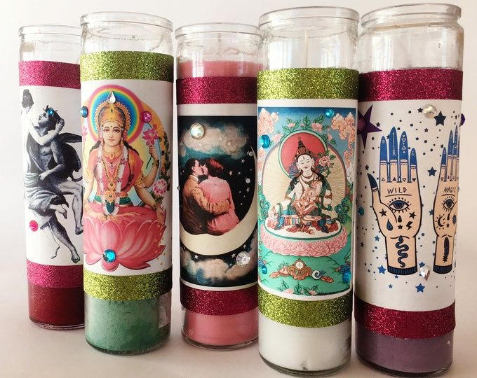 Prosperity Candle | 7 day LAKSHMI Goddess candle | Wealth, Fortune, Money | Loaded Fixed Candle | Seven day candle for prosperity