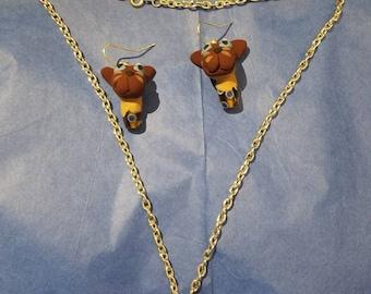 Siamese Kitten Jewelry Set