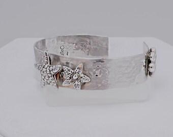 Sterling Silver Summer Cuff- Hand-made