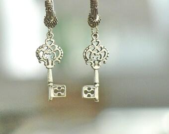 Key Earrings Steampunk jewelry Each Key Holds a Treasure