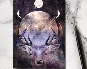 Stag Notebook - Deer Notebook - Woodland Notebook - Jotter - Stag Stationary