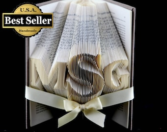 1st Anniversary Gift Folded Book Sculpture