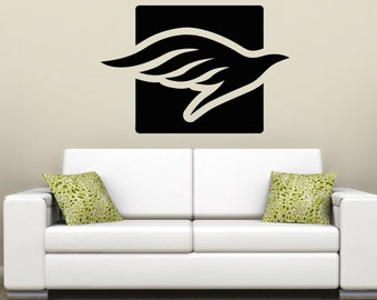Vinyl Wall Decal Sticker Dove Square OSAA1292m