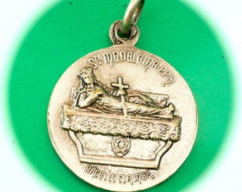 LADY OF LIFE Vintage Religious Medal Gorgeous