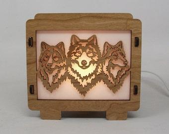 Wolf Lamp Night Light