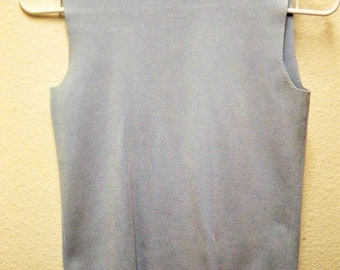 346 BROOKS BROTHERS Luxury Women's Soft Blue Silk Blend Sleeveless Spring/Summer Top Size XS.