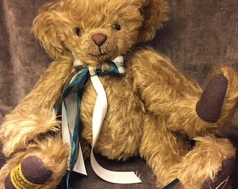 Vintage Merrythought cheeky mohair teddy bear from England
