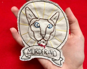 My Favorite Murder Podcast Elvis Murderino Pin or Patch- Hand Embroidered