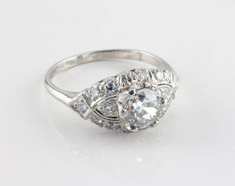 Vintage Art Deco Diamond Engagement Ring, 1.01 ct