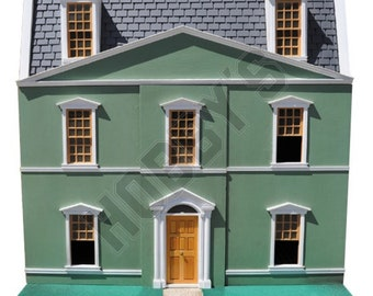 12th Scale DOLLS HOUSE PLAN to make a Regency House, Instruction Sheets x 2, Brand New