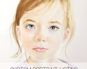 Watercolor portrait | Custom watercolor portrait | Custom painting l Child painting | Grandchild painting | portrait painting|