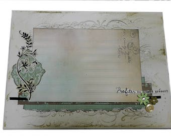 "Photo canvas scrappee shabby ""Enjoy the moment"" natures tones"
